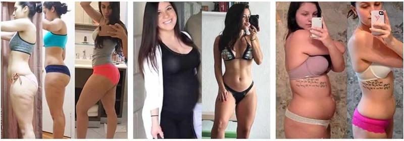 Antes e depois bodyfit caps